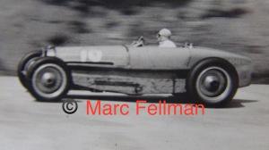 Bugatti type 59 driven by Robert Benoist 1934 ACF Montlhery